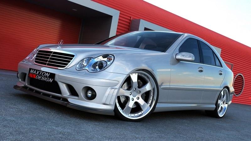 Splitter Przedni Mercedes C-Class W203 (Do zderzaka Me-c-203-AMG204-f1) - GRUBYGARAGE - Sklep Tuningowy